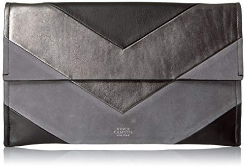 Vince Camuto Fitzi Clutch, Black/Pewter G by Vince Camuto