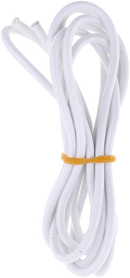 5mm Premium Blanc Ruban Rond en Caoutchouc /Élastique Cordon Amortisseur Bricolage Artisanat Accessoires Choisissez Longueur