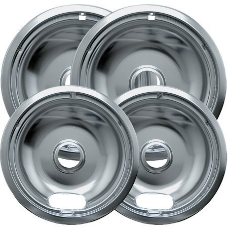 Range Kleen 4-Piece Drip Bowl, Style A fits Plug-in Electric Ranges Amana, Crosley, Frigidaire, Kenmore