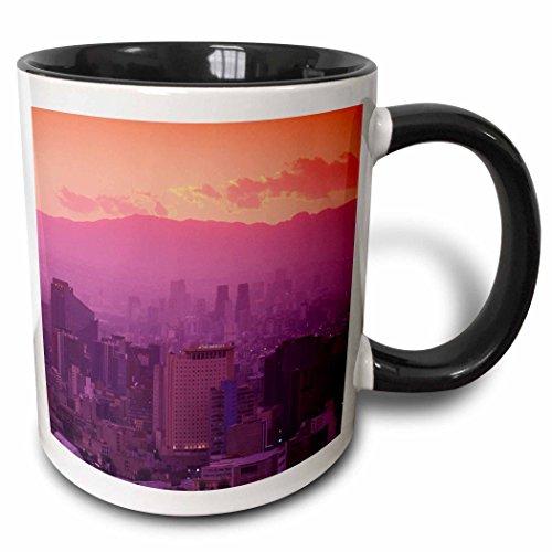 - 3dRose (mug_86860_4) Mexico, Mexico City, Highrises, business district - SA13 WBI0685 - Walter Bibikow - Two Tone Black Mug, 11oz