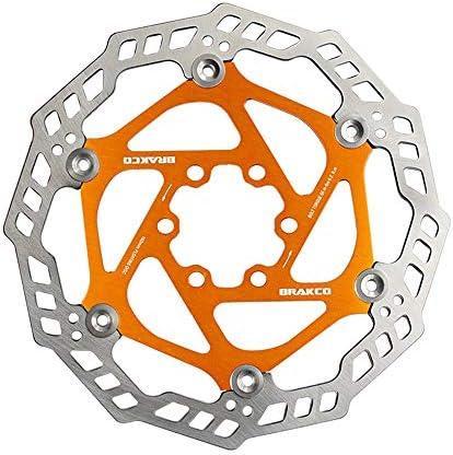 ロードバイクディスク 160のフローティングディスク強化熱放散構造マウンテンバイクのディスクブレーキ (色 : ゴールド)