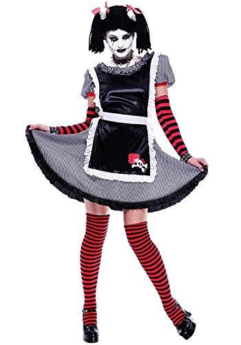 [Paper Magic Women's Gothic Rag Doll-1 Costume, Black, Small] (Black Magic Woman Costume)