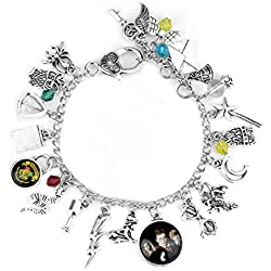 Harry Potter Themed Silvertone Charms Bracelet