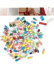 Kapsel tomt brev, meddelande flaska kapsel brev piller kapslar tomma för anteckningar tablettkapslar tomma för anteckningar för alla hjärtans dag fars dag, mors dag