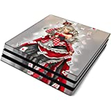 Queen of Cards Full Faceplates Skin Decal Wrap with 2 Piece Lightbar Decals for Playstation 4 Pro