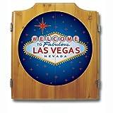 Las Vegas Wood Dart Cabinet Set
