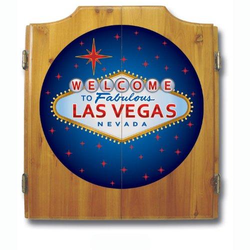 Las Vegas Wood Dart Cabinet Set by Trademark Gameroom