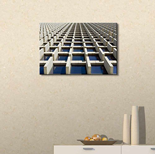 Abstract Architectural Pattern That Creates an Optical Illusion Wall Decor