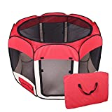 Cheap BestPet New Small Pet Dog Cat Tent Playpen Exercise Play Pen Soft Crate T08S Red