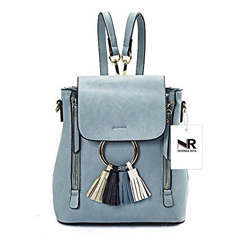 Satchel Cute Shoulder Girls Women Blue for Crossbody Ladies Normia Small Backpack Purse Bags Rita Tassel Bag Chain zzYPR