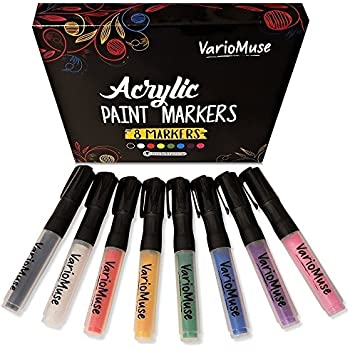 Amazon.com: Acrylic Paint Pens for Rock Painting, 12