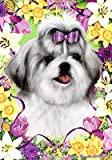 Cheap Shih Tzu Silver – Tamara Burnett Easter Flowers Large Flags
