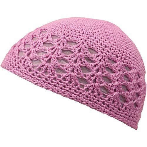 (Shoe String King SSK Knit Kufi Hat - Koopy Cap - Crochet Beanie (Pink))