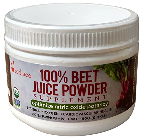 Red Ace 100% Certified Organic Beet Juice Supplement Powder/Nitric Oxide Booster/Helps Stamina, No Sugar Added, Non GMO