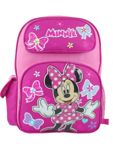 """Disney Minnie Mouse Large 16"""" School Backpack"""