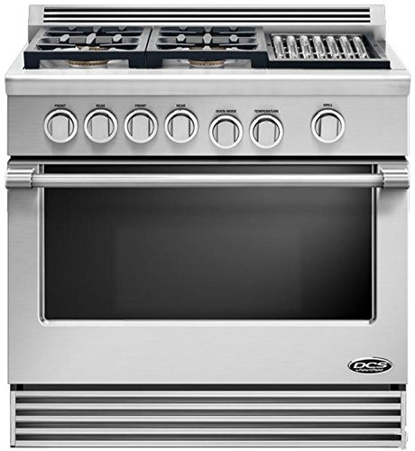 "Price comparison product image DCS RDV364GLN Professional 36"" Stainless Steel Dual Fuel Slide-In Sealed Burner Range - Convection"