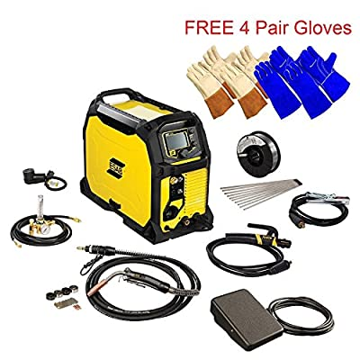 ESAB Rebel EMP 235ic MIG/Stick/Tig Welding Machine w/ Foot Control & Gloves