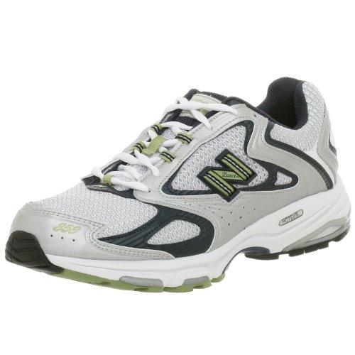 New Balance Men's MR858 Running Shoe,Silver/Blue/Green,13 D