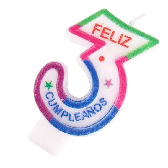Cotigo- Vela de Cumpleaños de Número 3: Amazon.es: Juguetes ...