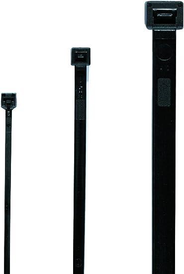 150 mm x 7,6 mm Premium Krawatte Packungen Hohe Qualit/ät Starke Nylon l/ösbare Zip Kabelbinder von gocableties 100 St/ück Schwarz Wiederverwendbar Kabelbinder