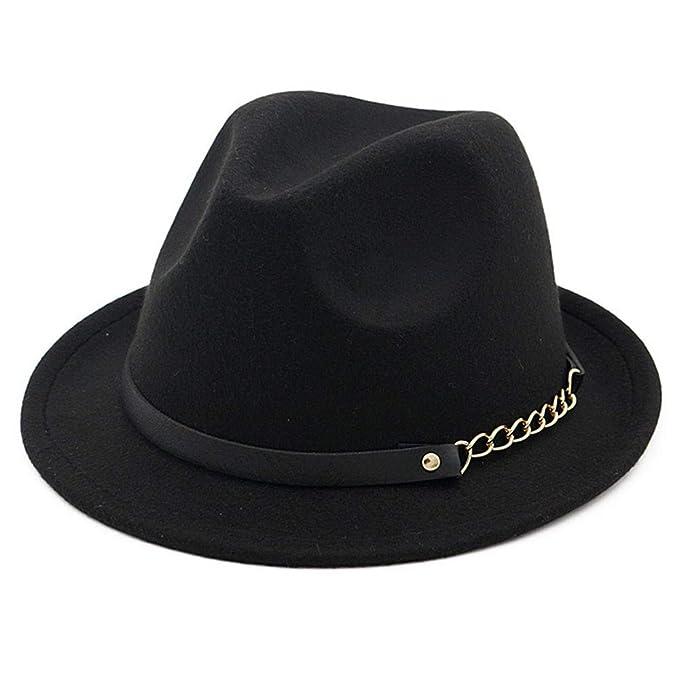 OLIS,Cappello Fedora Feltro Borsalino Jazz Trilby Cappelli Per Uomo Donna  Inverno de0b1f798c0d