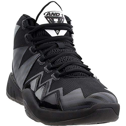 AND1 Mens Boom Basketball Casual Shoes, Black, 10.5