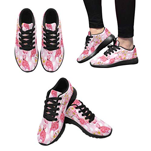 Design Flamingo 8 Running Women's Leaves InterestPrint Trail Cross Flower Trainer Sneakers 6xzHR