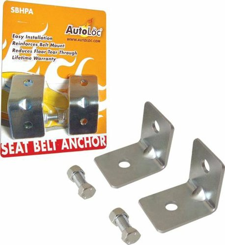AutoLoc SBHPA Angled Seat Belt Anchor Plate Hardware Pack