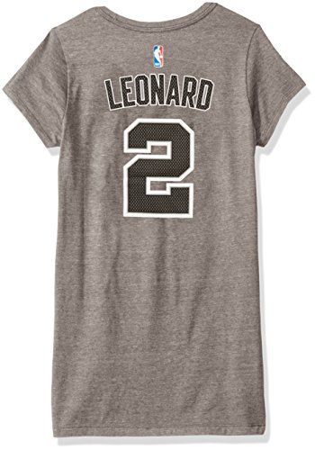adidas NBA San Antonio Spurs Adult Women Mesh Bling Name Cap Sleeve Tee, Medium, Gray ()