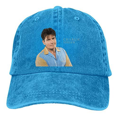 Unisex Vintage Adjustable Trucker Cap Charlie Sheen Fashion Sports Cap, -