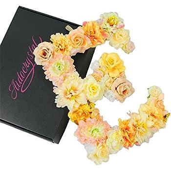 Amazon.com: Handmade flower letter Baby Shower Floral Monogram ...