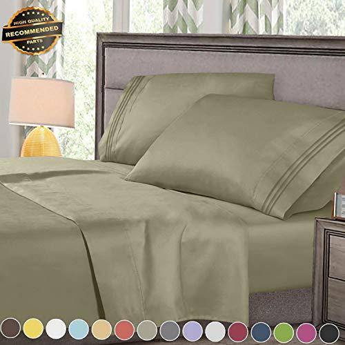 Gatton Premium New Super Deluxe 1800 Count Hotel Quality 4 Piece Deep Pocket Bed Sheet Set   Collection - Hanger Four Pocket Set