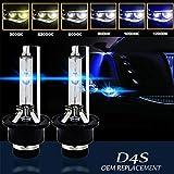 2x 35W D4S/ D4R 6000K Xenon HID Bulb Metal Stents Base Car Headlight