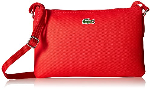 Lacoste L.12.12 Concept Flat Crossover Bag, High Risk Red