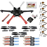 QWinOut DIY F550 Airframe Kkmulticopter Flight Controller RC Hexacopter Drone PNF Unassembly Combo (No Remote Controller & Battery )