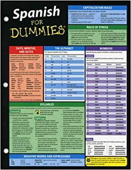 Spanish For Dummies Deluxe Cheat Sheet 9781118369296