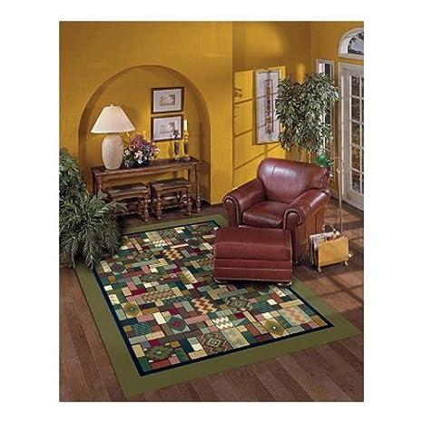 Tappeto Moderno Verde 100 x 150: Amazon.it: Casa e cucina