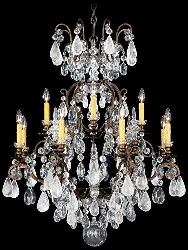 - Schonbek 3572-23OS Swarovski Lighting Renaissance Rock Crystal Chandelier, Etruscan Gold