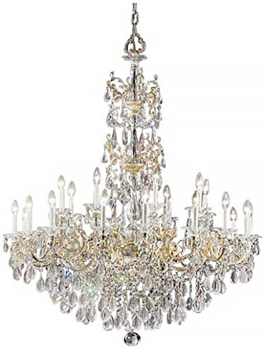 Classic Lighting 57025 CHP C Via Venteo, Crystal, Chandelier, Champagne - Champagne Pearl Venteo Via