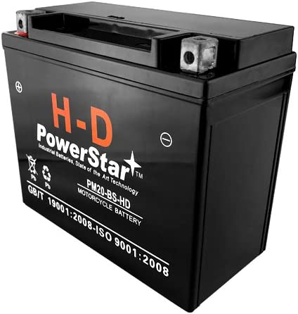 3 Year Warranty YTX20-BS Battery for Harley-Davidson 883cc XLH Sportster 1990