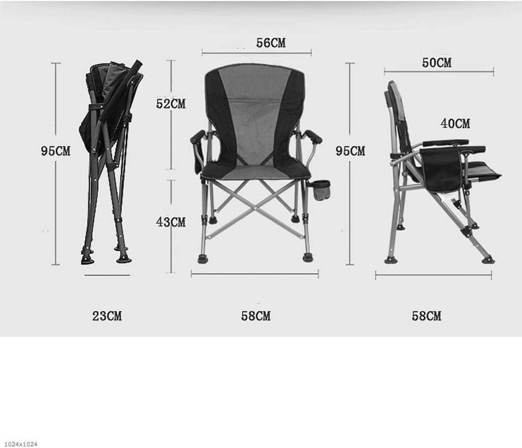 Gxf Outdoor Folding Chair, Portable Beach Chair, Director's Chair, Fishing Chair, Lounge Chair Chairs Blue