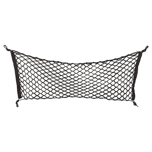 Juvale Elastic Cargo Net - Vehicle Trunk Stretchable Organizer with Hooks, Rear Mesh Net for Cars, Vans, Trucks, and SUVs - Disturb Stopper from Children and Pets - Universal, Black, 41 x 15.5 Inches
