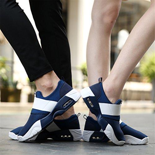 Fitness Course Casual Slip LANYIER sur Running Légère Sneakers Femmes Sports Baskets Bleu Mode Basse Gym A Mocassins Hommes de Maille Respirante Chaussures nZgZO6XcW