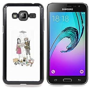 Stuss Case / Funda Carcasa protectora - Sweet Love Novio Lluvia - Samsung Galaxy J3 GSM-J300