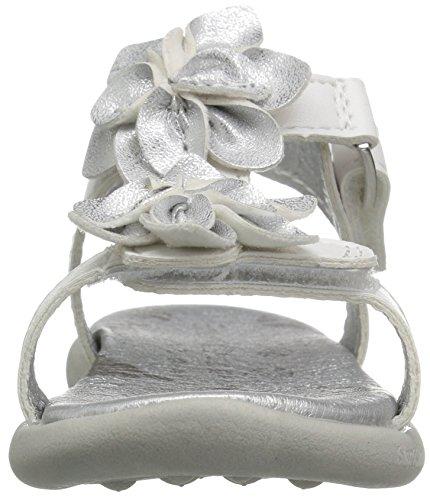 Girl's White Barra Adjustable Sandal P Baby amp; Step Stride pXqwF8X