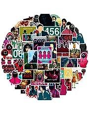 Beautymei 52 stuks Squid Game Stickers Waterdicht Vinyl Stickers voor laptop, Macbook, bagage, skateboard, motorfietsen