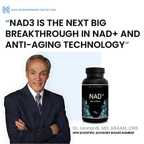 HPN NAD+ Booster – Nicotinamide Riboside Alternative (NAD3) for Men & Women | Anti Aging NRF2 Activator, Superior to NADH – Natural Energy Supplement for Longevity & Cellular Health, 60 Caps, 3-Pack by HPN (Image #5)