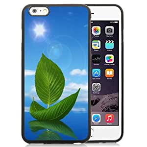 New Fashionable Designed For iPhone 6 Plus 5.5 Inch Phone Case With Green Leaf Boat Phone Case Cover