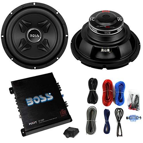 2) Boss CXX10 10″ 1600W Car Audio Power Subwoofer Sub+ Mono Amplifier+Amp Kit