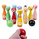 Fansport Bowling Set Bowling Game Lovely Animal Pattern Educational Toy for Children